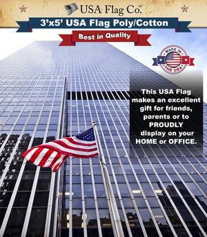 US Flag (3x5 foot) Poly/Cotton Screen Dyed