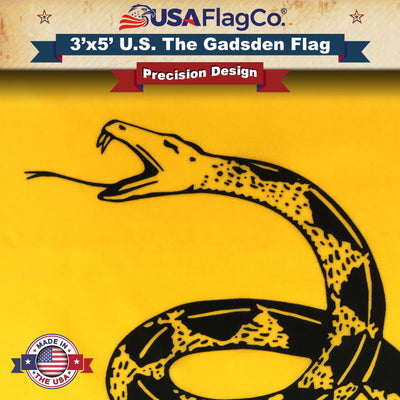 is 100/% American Made Gadsden Flag Dont Tread On Me by USA Flag Co The BEST US