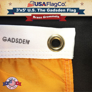 Gadsden Flag with Brass Grommets
