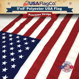 2-PLY Polyester USA Flags by USA Flag Co.