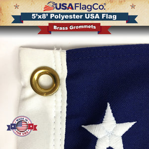 Polyester USA Flags - Brass Grommets