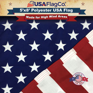 USA Flag Co. Polyester USA Flags (5 by 8 Foot)