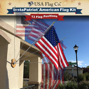 InstaPatriot™ 13 Adjustable Flag Postions American Flag Kit by USA Flag Co.