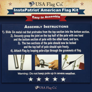 InstaPatriot™ Easy to Assemble American Flag Kit by USA Flag Co.