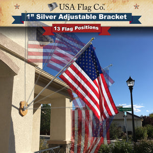 Brushed Aluminum American Flagpole Mount by USA Flag Co.