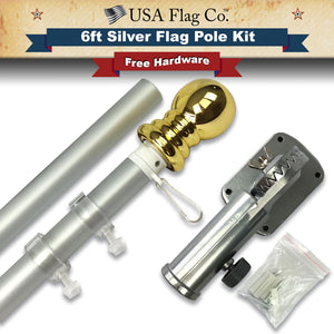 Brushed Aluminum Flag Pole Kit by USA Flag Co.