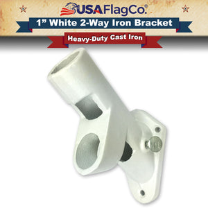 ROGUE™ White Cast Iron Flag Pole Bracket (1-inch Diameter)