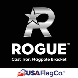 USA Flag Co. ROGUE™ Black Cast Iron Flag Pole Bracket