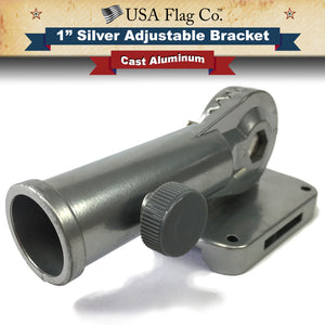 Silver Flag Pole Mount by USA Flag Co.