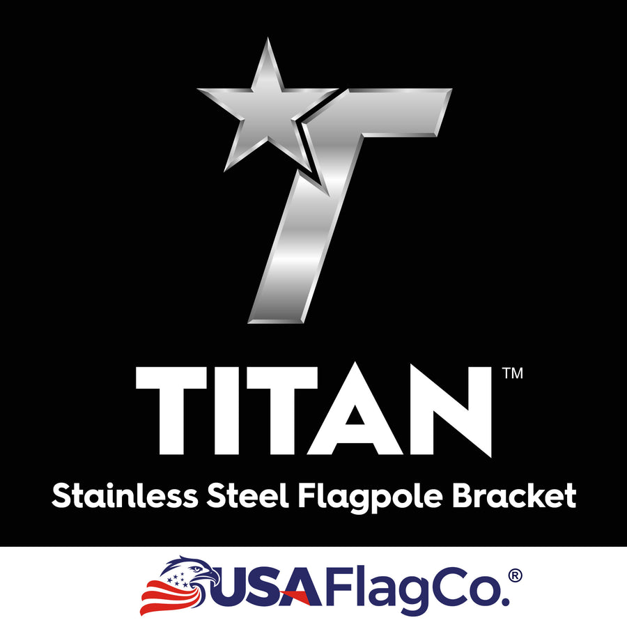 TITAN Silver Stainless Steel Flag Pole Bracket by USA Flag Co.