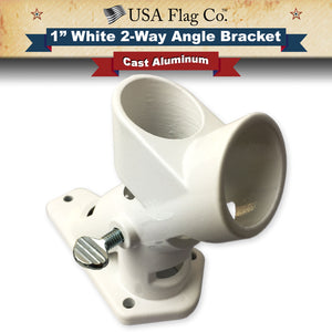2-Way Angle White Flag Pole Mount by USA Flag Co.
