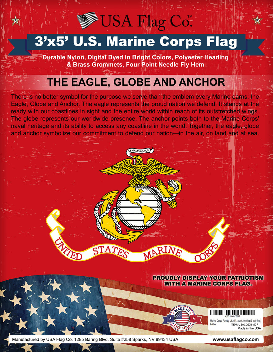 Marine Corps Flag by USA Flag Co.