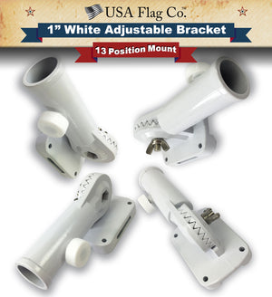 Flag Pole White Mount by USA Flag Co.