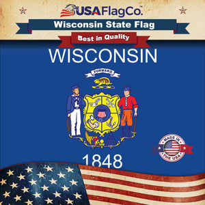 Wisconsin Flag by USA Flag Co.