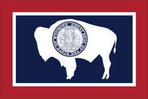 Wyoming State Flag by USA Flag Co.