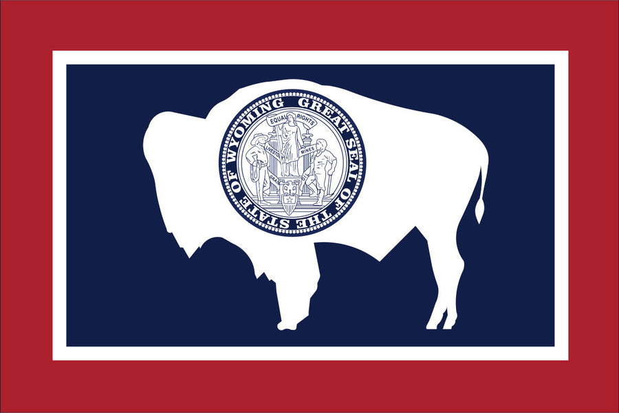 Wyoming Flag by USA Flag Co.