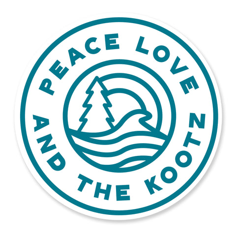 Peace, Love, Kootz Sticker
