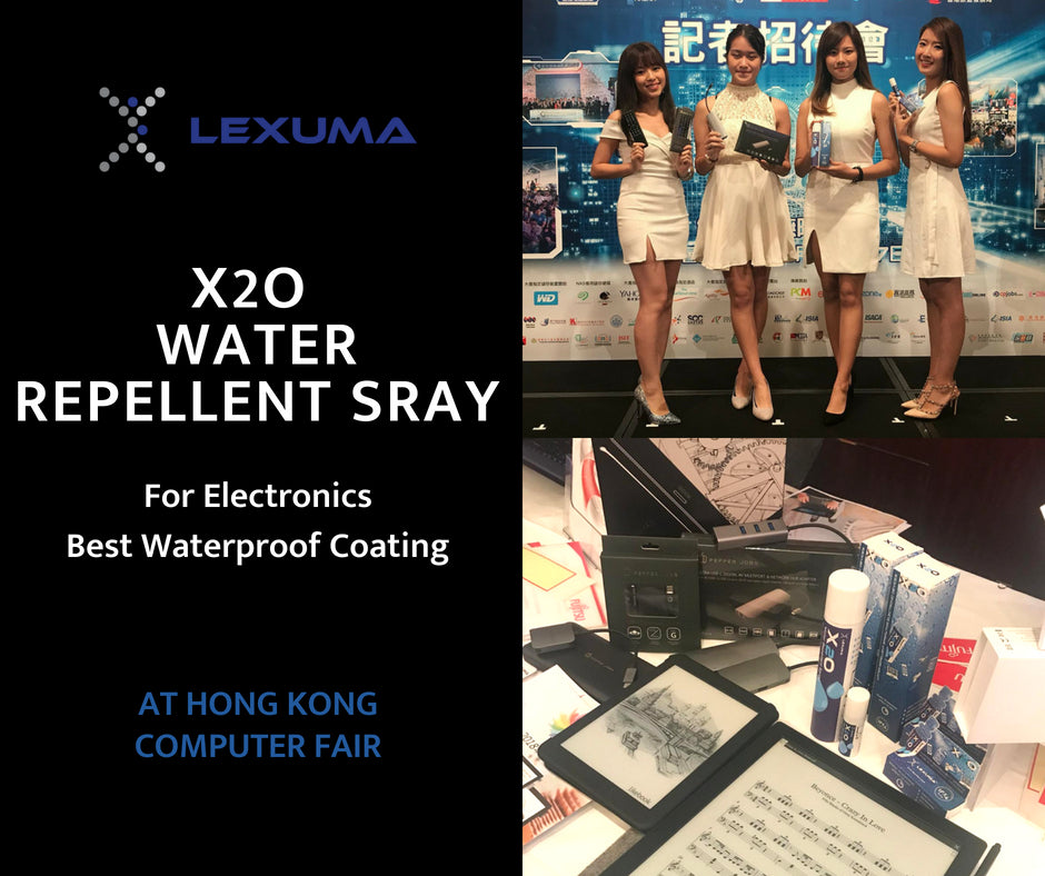 Lexuma X2O Waterproof Spray for Electronic Devices at 2018 Hong Kong Computer Fair
