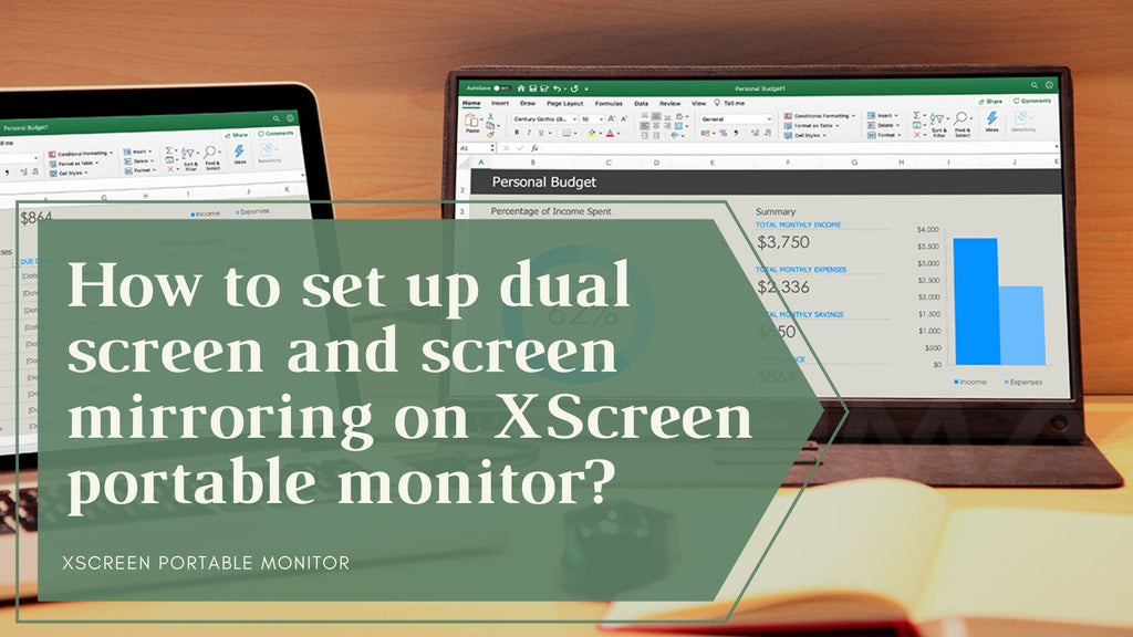 Guide of dual-screen and screen mirroring setting on Lexuma XScreen portable monitor?