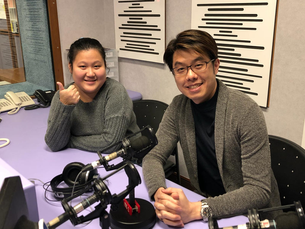 Lexuma Director, Kelvin Ip, sharing entrepreneur experience during his radio interview by RTHK