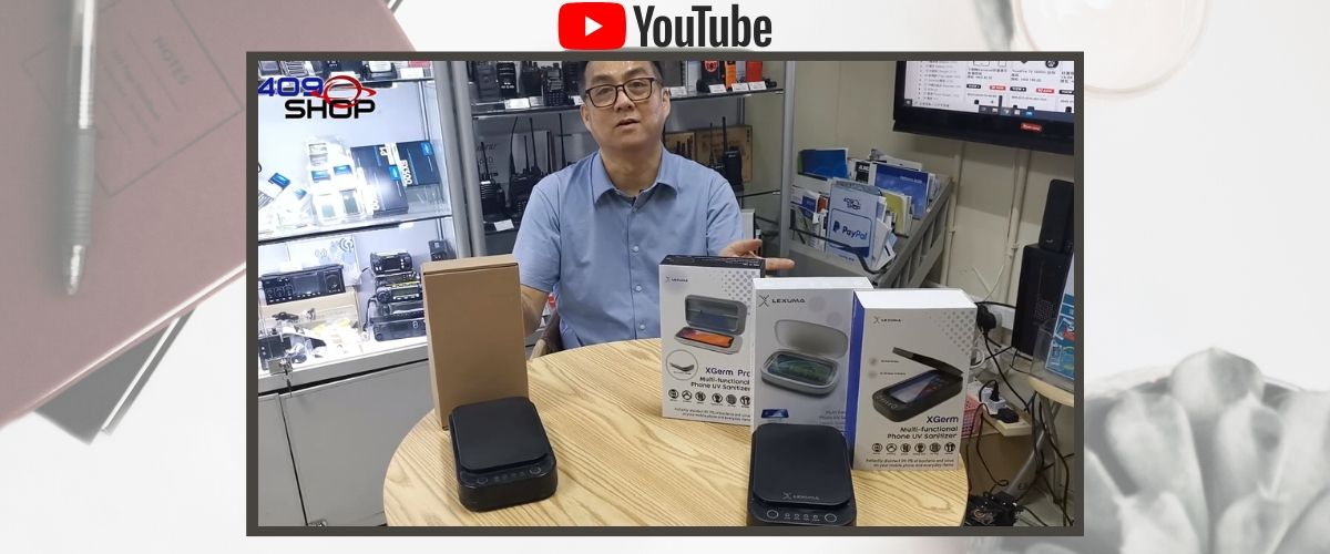 409Shop Youtube Video about fake UV phone sanitizer and LEXUMA XGerm phone sanitizer