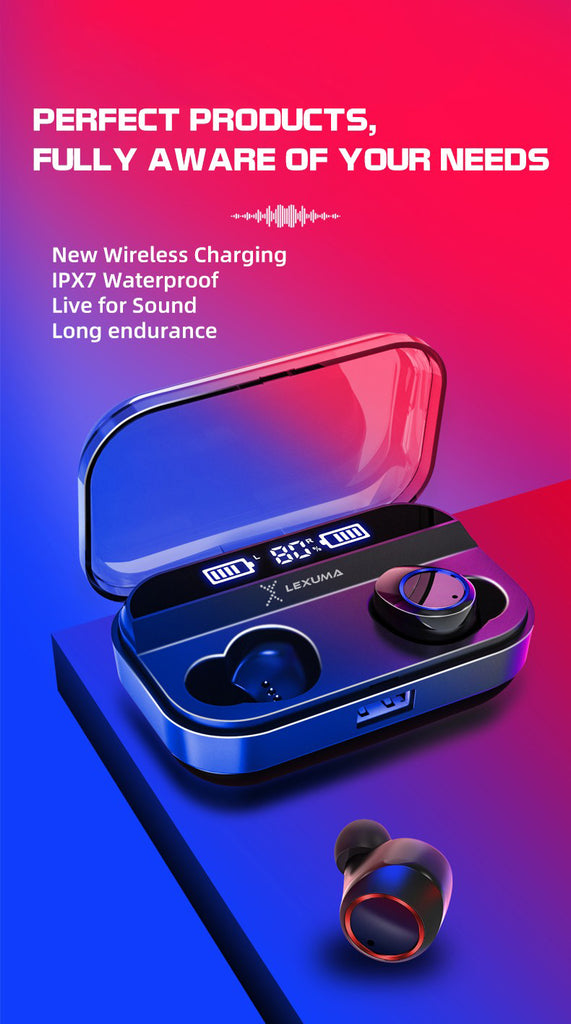 Lexuma 辣數碼 Xbud-Z True Wireless stereo In-Ear Bluetooth with IPX7 waterproof earbuds for running outdoor headphones earphones with power bank Water-resistant Nano-coating rechargeable mpow flame AS X2T+ ip8 jbl endurance dive jabra elite 65t ikanzi TWS-X9 best wireless earbuds 2019 best wireless earbuds for working out  wireless charging features