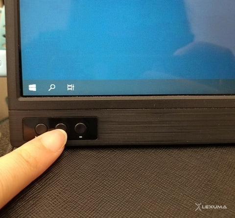 lexuma xscreen portable monitor with touch screen unboxing volume