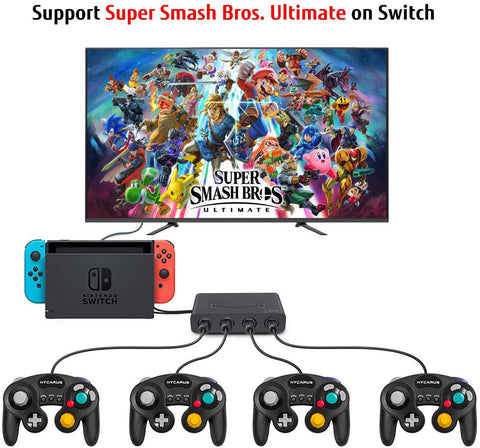 Lexuma GameCube Controller Adapter for Wii U, Nintendo Switch and PC USB switch set up