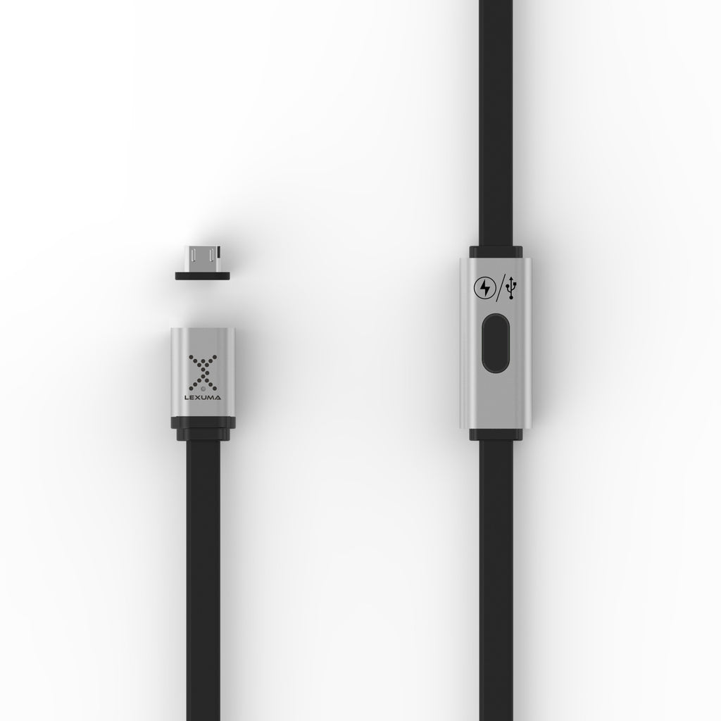 Lexuma 手機充電線 XMag XMAG-LC-Plus Fast Charging Magnetic Micro-USB Cable for android Dual Charging Modes with adapter tip mobile accessories micro usb 磁吸充電線