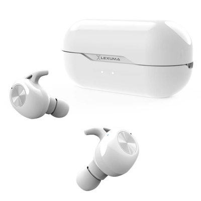 Lexuma LE-701 Earbuds [True Wireless Stereo] with Charging Case white