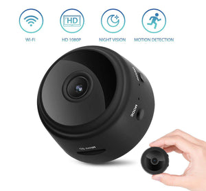 Mini 1080P Wireless Night Vision Security Camera with 150° Wide-Angle Lens - Lexuma