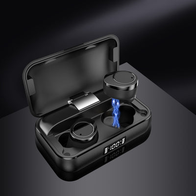 Lexuma Xbud-X true wireless in-ear earbuds wireless earphones headphones bluetooth 5 charging case ultra large battery capacity 辣數碼 真無線藍牙耳機 連充電盒 black inside charging