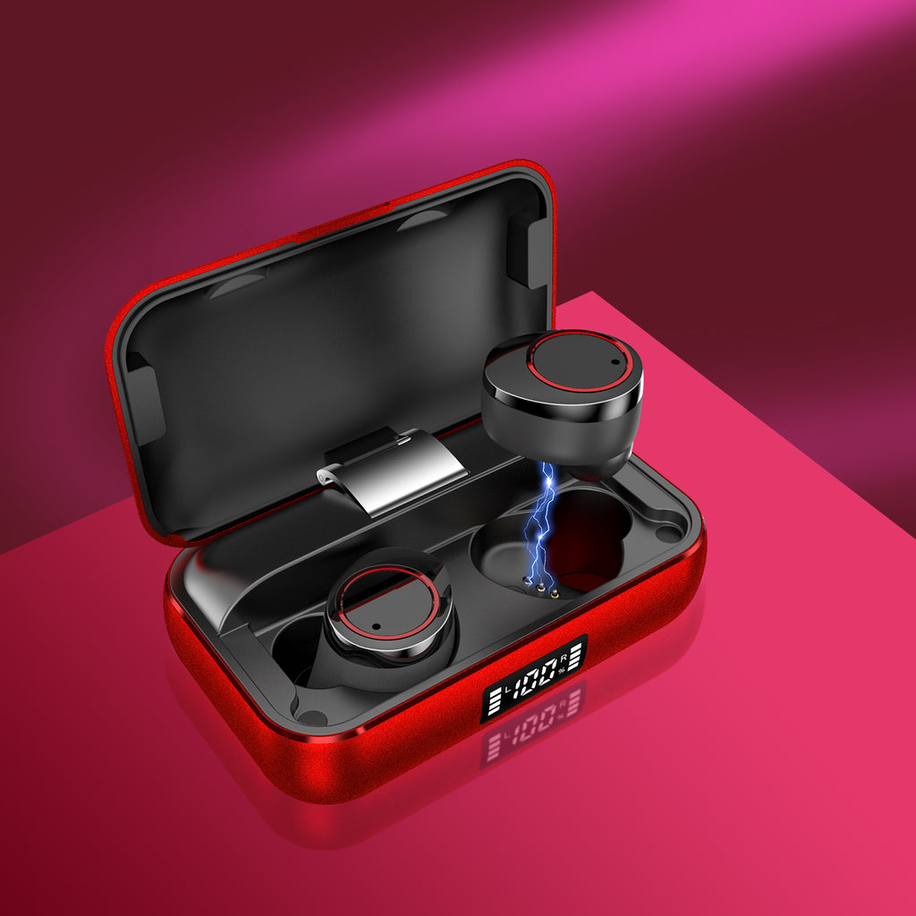 Lexuma Xbud-X true wireless in-ear earbuds wireless earphones headphones bluetooth 5 charging case ultra large battery capacity 辣數碼 真無線藍牙耳機 連充電盒 red inside charging