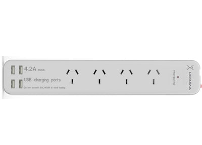 Lexuma XStrip:  AU Surge Protected USB Power Strip with 4A output