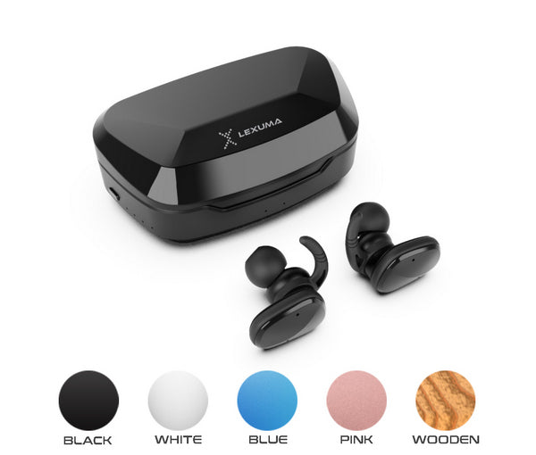 Lexuma 無線耳機 XBUD2 XBUD TWS LE-702 wireless earbuds with charging case true wireless stereo bluetooth earphones best bluetooth BT5.0 In-Ear headphones for sport workout gym multi colors colorful Lightweight IP56 waterproof Sweatproof protection