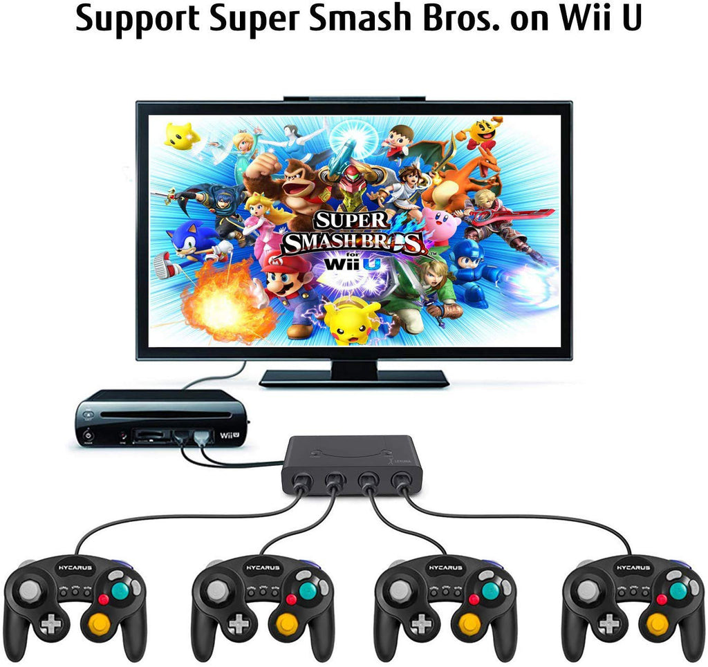 Lexuma GameCube Controller Adapter for Wii U, Nintendo Switch and PC USB wii u set up