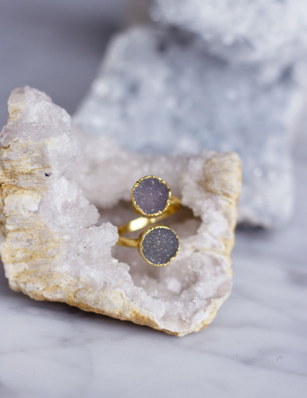 GEOMETRIC DRUZY RINGS- 0502 - Blue District