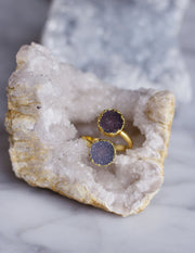 GEOMETRIC DRUZY RINGS- 0505 - Blue District