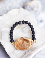 LAVA BEADS/ QUARTZ BRACELET- 0716 - Blue District
