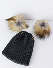 [oversized pompom beanie] - Blue District