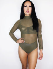 BABYLON BODYSUIT- OLIVE - Blue District