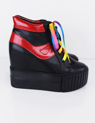 BOJA PLATFORM SHOES - Blue District