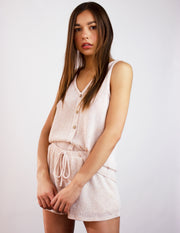 BRECCIA SHORTS SET- NUDE