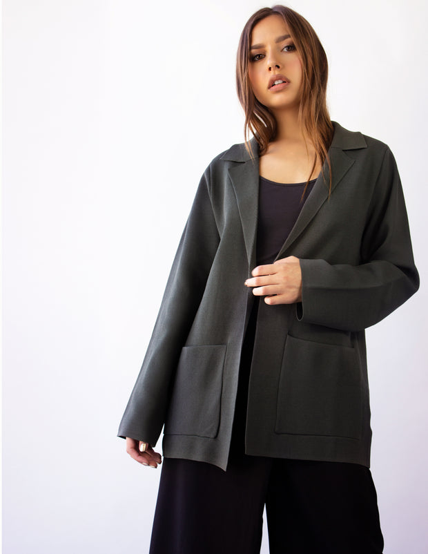 CASSINI BLAZER JACKET- FOREST GREEN