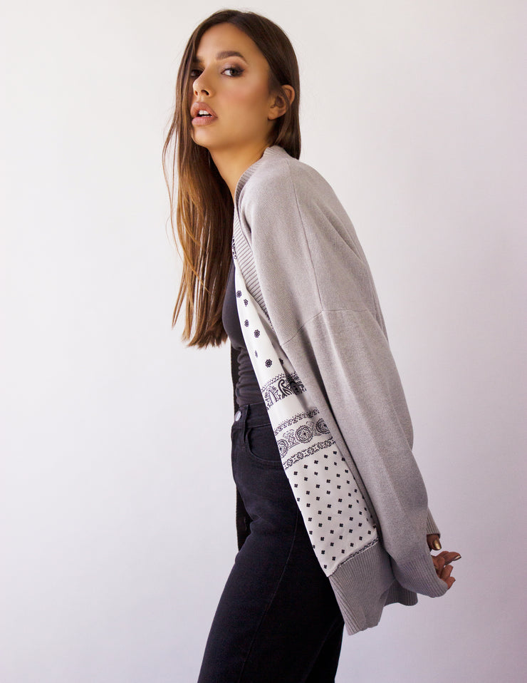 CHARA CARDIGAN- CLOUD GRAY