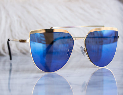 CORONA SUNGLASSES- BLUE - Blue District