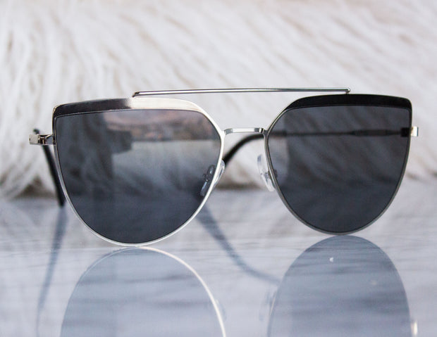 CORONA SUNGLASSES- CHROME - Blue District
