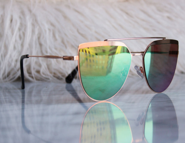 CORONA SUNGLASSES- GREEN - Blue District