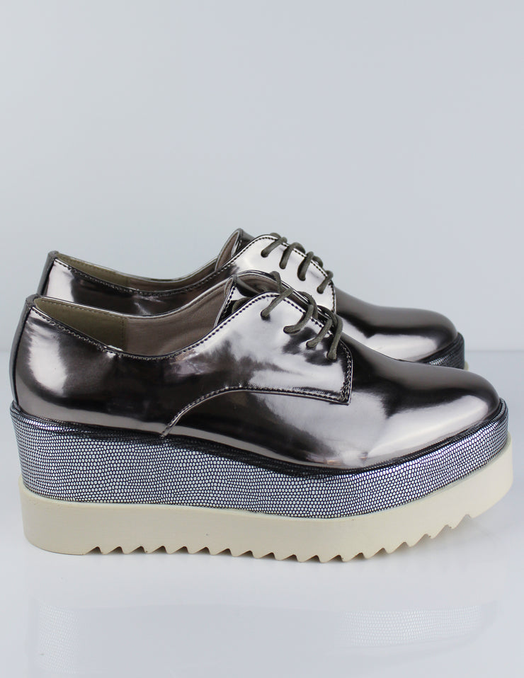 LUSTER PLATFORM SHOES - Blue District