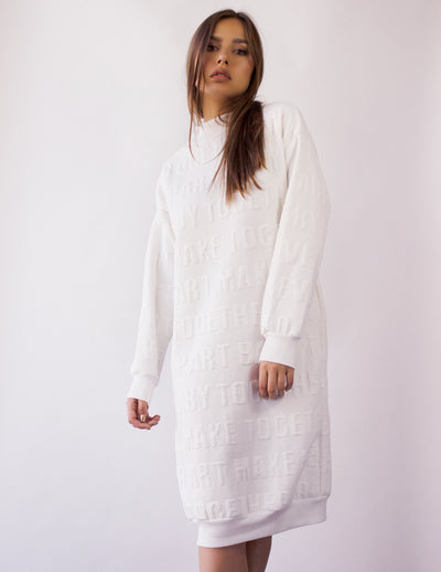 NOCTUA SWEATER DRESS- SOY
